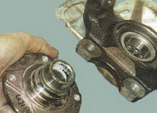 Замена подшипника передней ступицы своими руками дэу нексия
